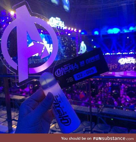 At the Endgame press in Seoul they had these lightsticks, they are beautiful.