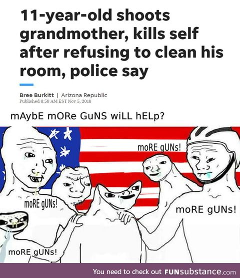 This wouldn't have happened if the grandma had a gun on the back of her head!