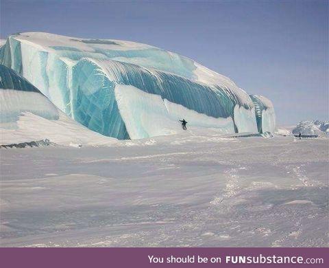 Ice wave on Lake Huron, Michigan