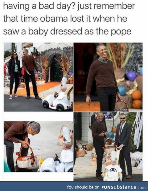 Obama being wholesome