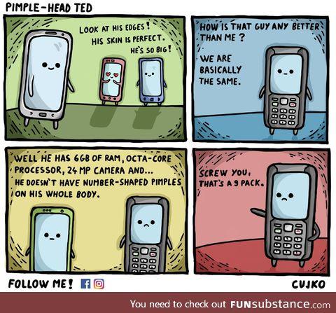 Pimple-head ted