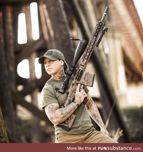 Meet Kinessa Johnson, a US army veteran woman who hunts poachers