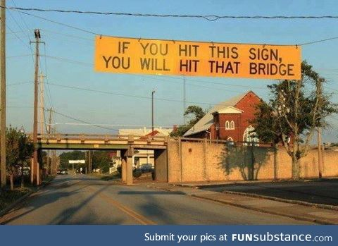Very informative road sign