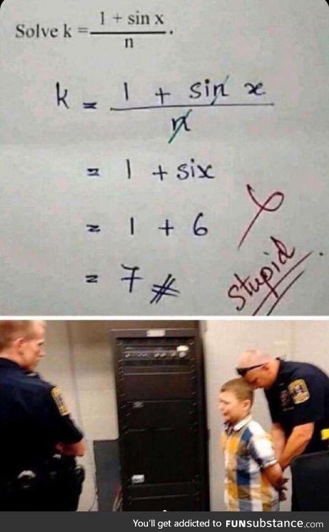 Solve k.
