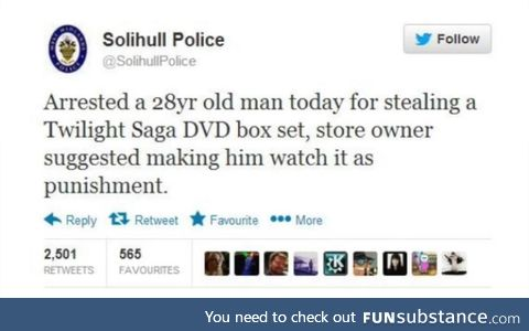 That punishment would be way too cruel though