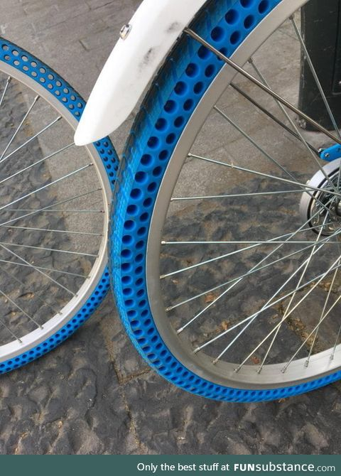 These bikes have airless tires