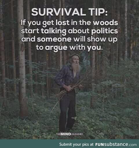 Just one survival tip
