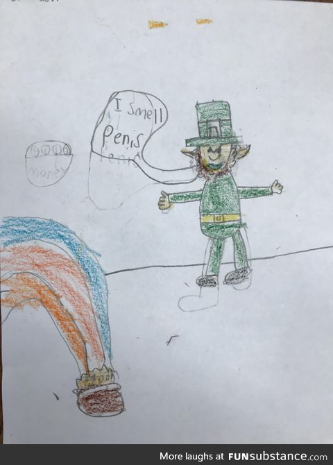 """When a 2nd grader doesn't know how to spell """"pennies"""""""