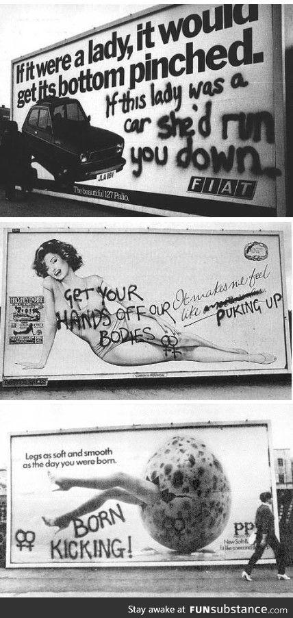 Feminist Vandalism circa 1972