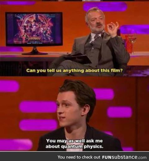 Tom Holland made the most subtle spoiler joke ever