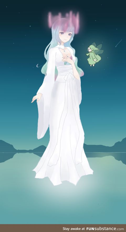 I've personified the northern lights for Hyperion's art thingy