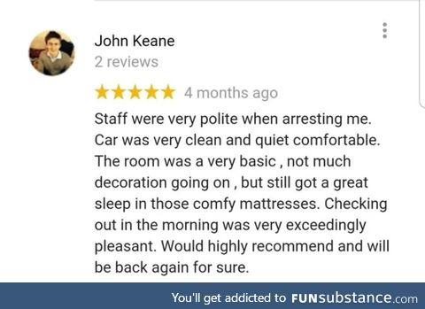 This review of an Irish police station