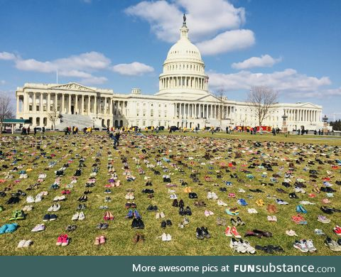 A pair of shoes for every child killed by gun violence since Sandy Hook