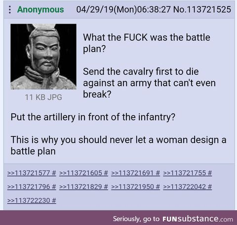 Sun Tzu is not impressed