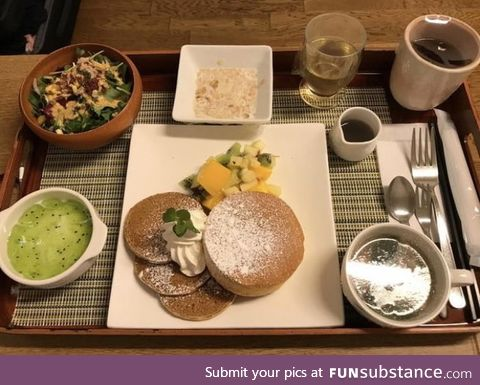 This is not the food from a high-end restaurant. This is hospital food in Japan