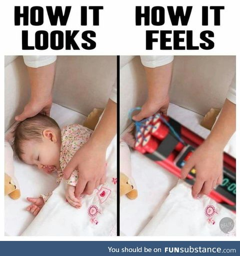Anyone babysitting a baby can relate