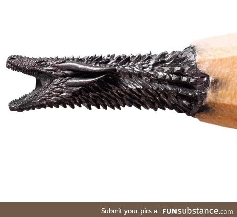 Sculpting on pencil lead
