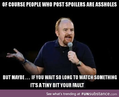 In response to people complaining about Endgame spoilers