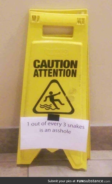 Beware snek
