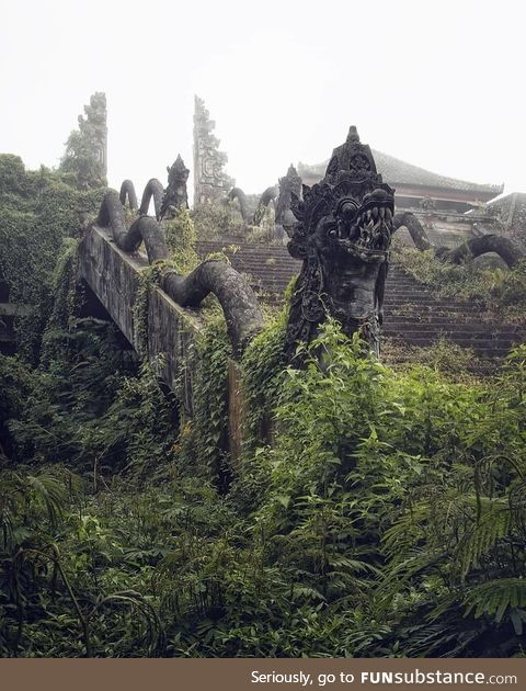 Abandoned temple in Indonesia