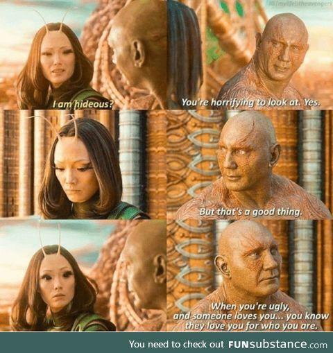 Drax gives life advice