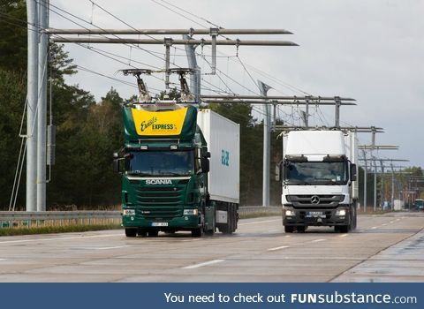 Germany has an electric highway to help curb diesel fuel usage