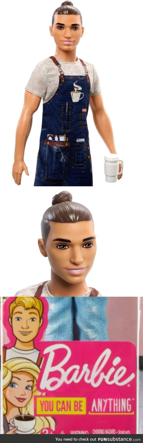 "Barbie Ken ""Careers"" Barista, seriously. This is totally NOT geared to millennials kids"