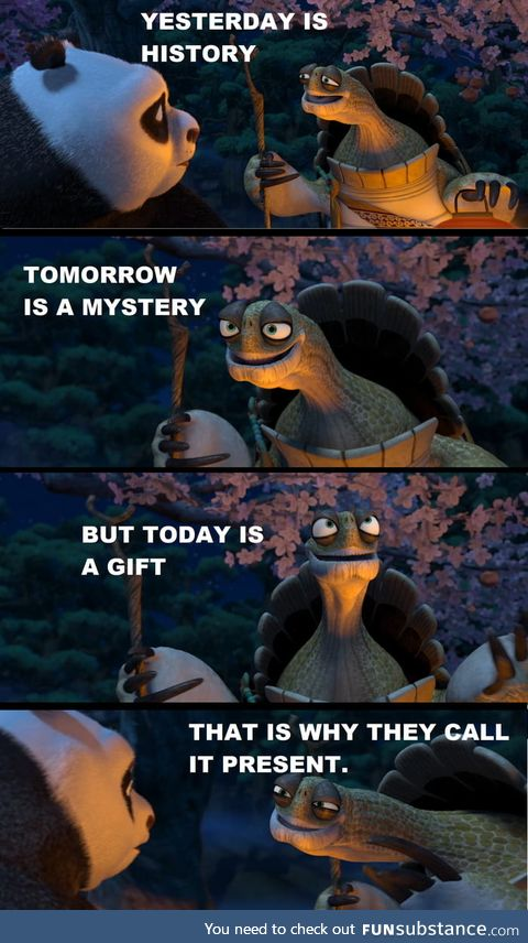 A wise turtle once said