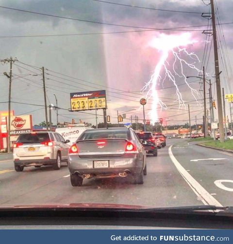 Lightning in Moody, Alabama today