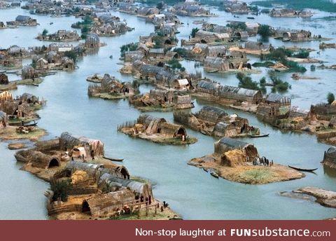 Marsh community in Iraq