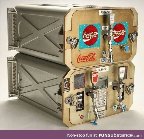 Coke dispenser used on the space shuttle Discovery circa 1995