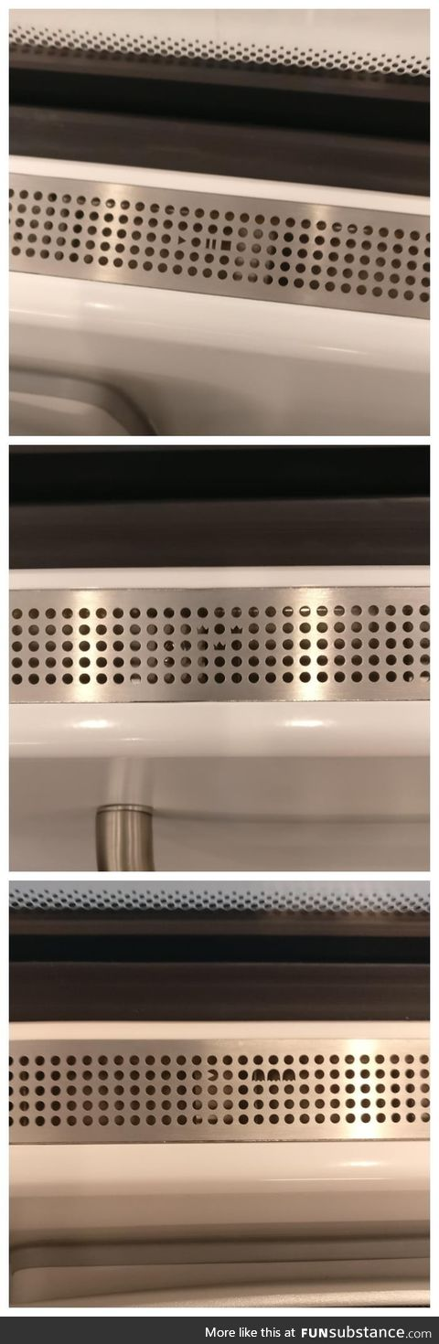 Patterns on the air vents from the new trains in Sweden