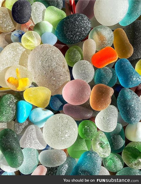 Sea glass found in Japan