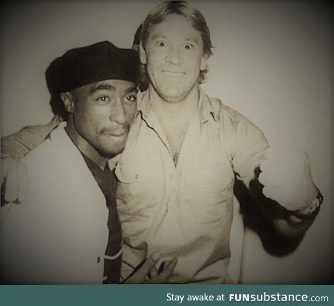 Steve Irwin and Tupac