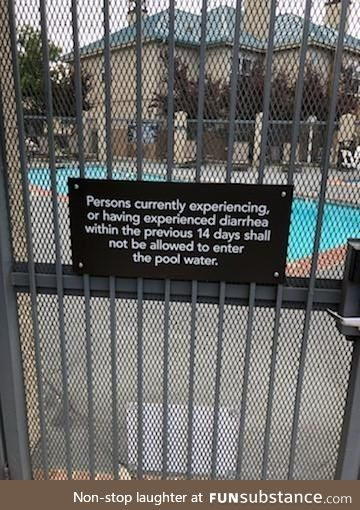 Some shit must have gone down at this pool
