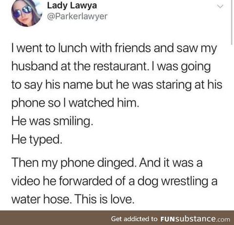 He's a keeper!
