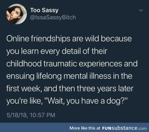Friends on the online