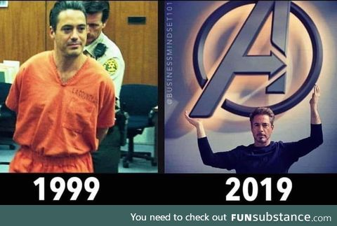 Has anyone made a bigger turnaround than RDJ?