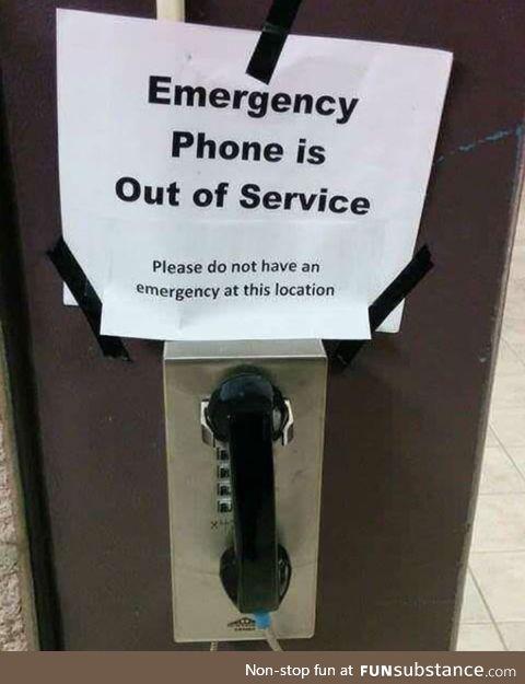 Do not have emergency,thanks bye