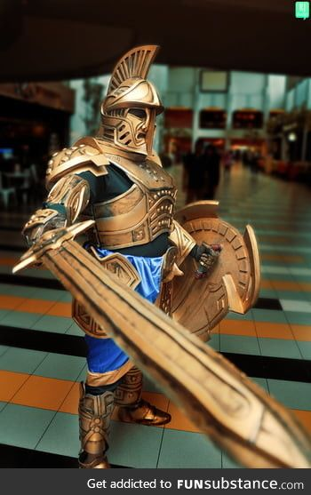 This guy absolutely nailed it going for a full set of dwarven armor including a sword and