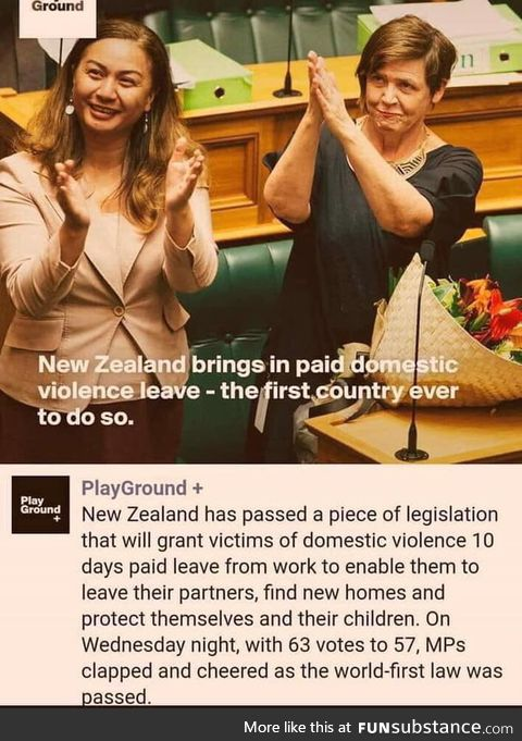 New Zealand passes paid domestic violence leave
