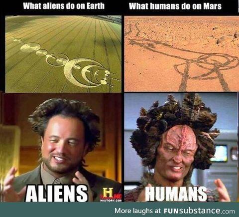 Aliens/humans