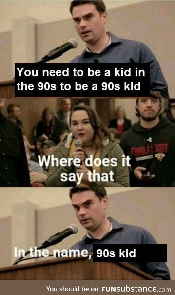 "To all the ""90s kids"""