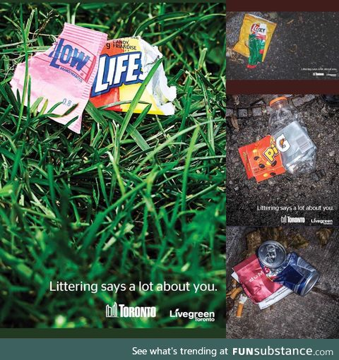 Anti-littering poster from Canada