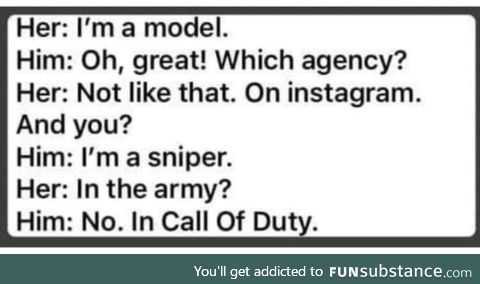 And a damn good sniper too!
