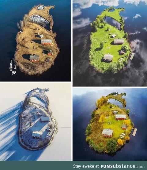 Four seasons on a Finnland island