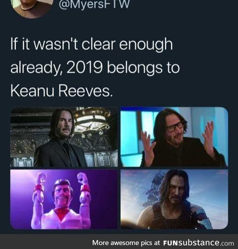 Keanu Reeves wins
