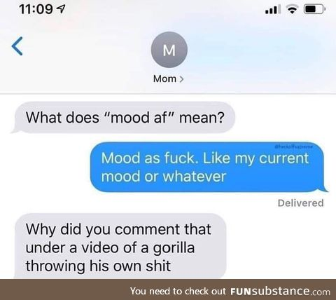 Outstanding move from mom