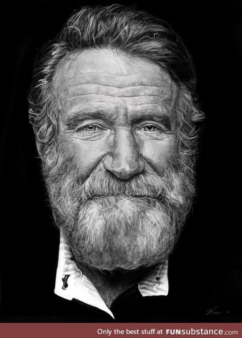 Robin Williams digital portrait drawn by me!