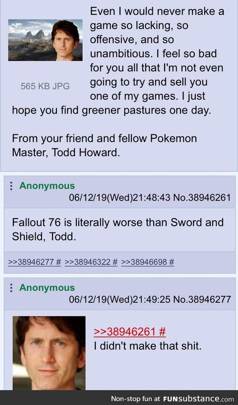 A message from Todd Howard